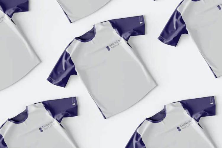Top View of T-Shirt Mockup GH764X6