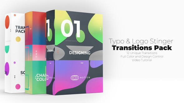 Videohive Typo & Logo Stinger Transitions Pack 30363570