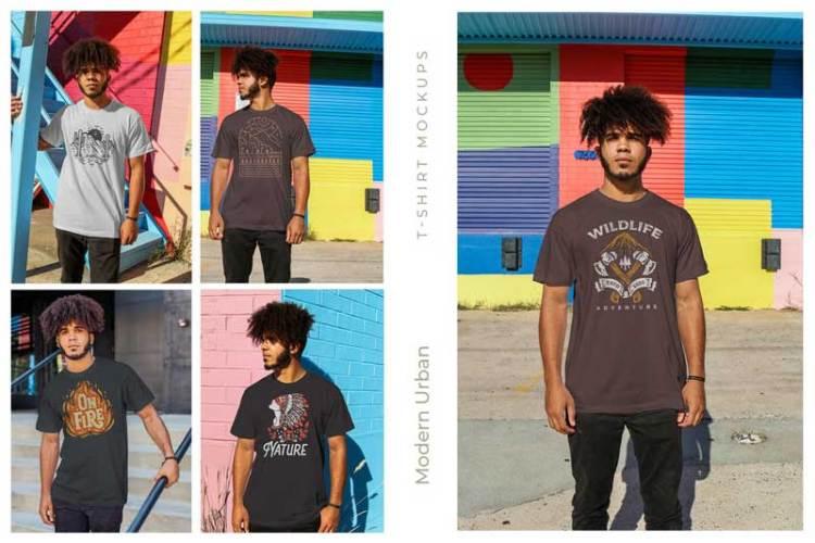 Urban Men T-Shirt Mockups H29VTNK