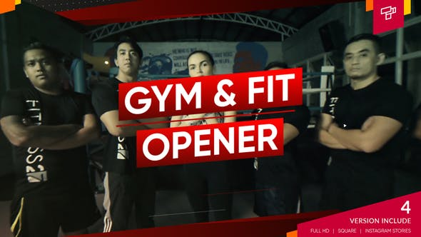 Videohive Fitness and Workout Gym Opener Sport Promo Dynamic Slideshow 24793073