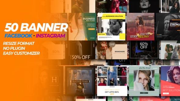 Videohive 50 Facebook & Instagram Banner 31749161