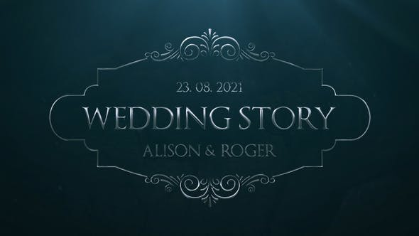 Videohive Silver Wedding Titles 31733833