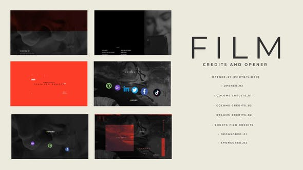 Videohive Film Credits And Opener 30253381