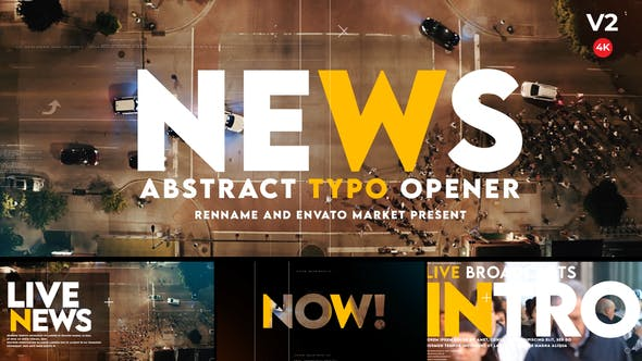 Videohive Typographic Abstract News Opener 27460021