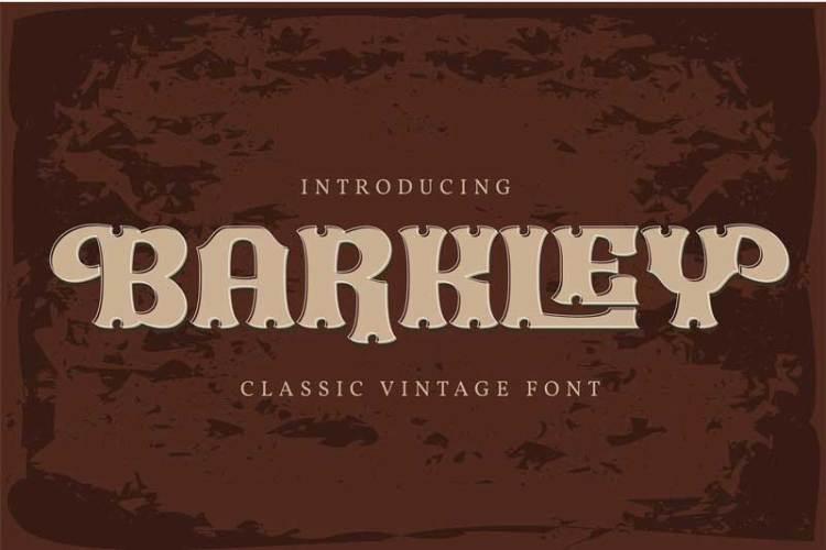 Barkley   Classic Vintage Font