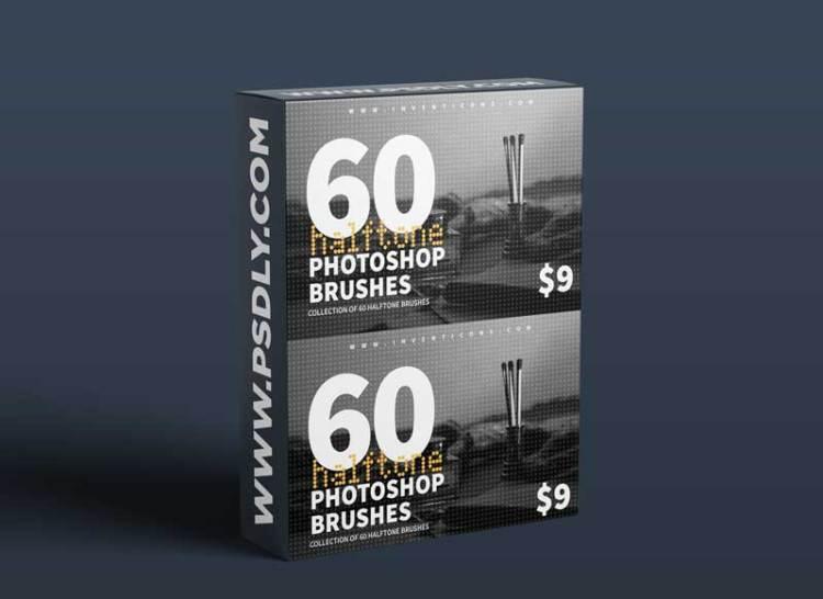 CreativeMarket - 60 Halftone Photoshop Brushes 6028561