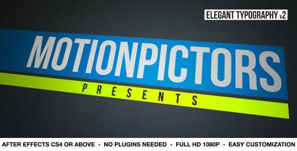 Videohive Elegant Typography V2 2950403