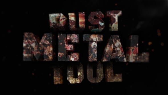 Videohive Metal Rust Toolkit Title & Logo Intro Maker 28333680