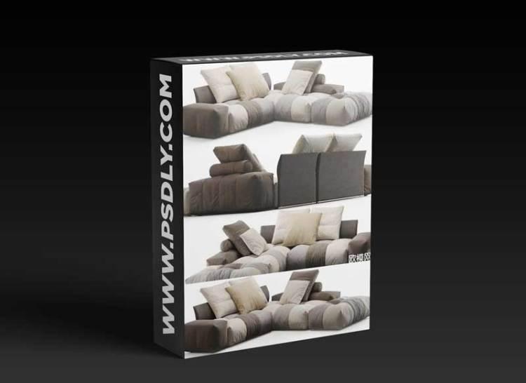 Modern fabric sofa combination 06