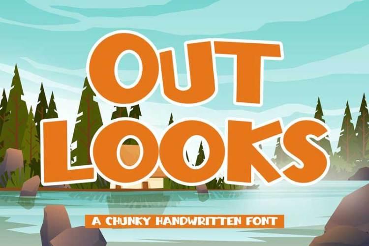 Outlooks – Chunky Handwritten Font
