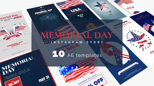 Videohive Memorial Day & 4th Of July Instagram Stories 31660666