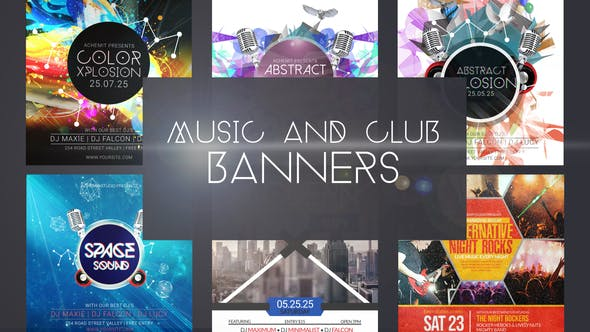 Videohive Music & Club Event Banner Ad 31733631