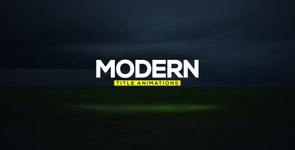 Videohive Modern Titles 15003445
