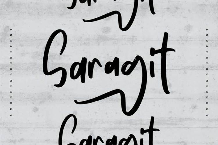 Saragit | A Modern Brush Font