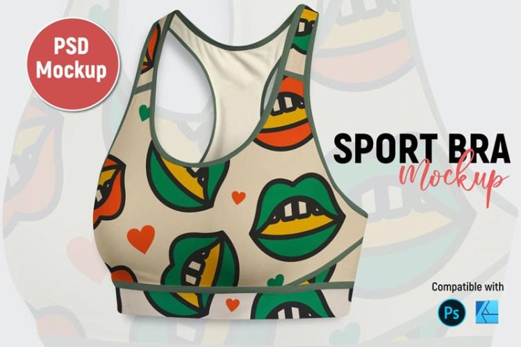 Sport Bra Mockup