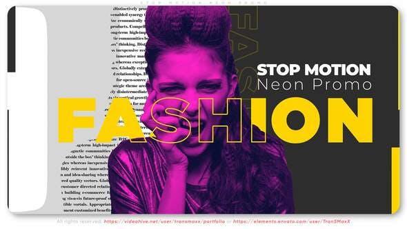 Videohive Stop Motion Neon Promo 31762930