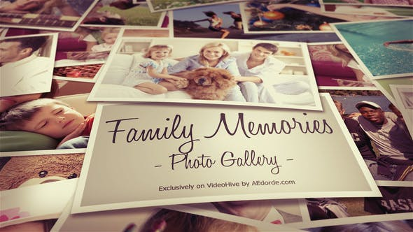 Videohive Photo Gallery - Family Memories 20540641