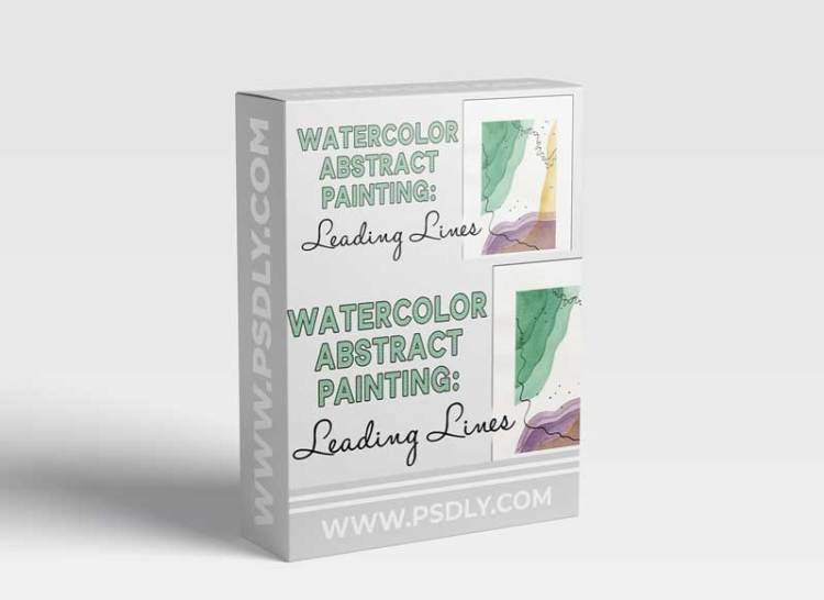 Watercolor Abstract Painting: Leading Lines