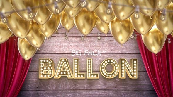 Videohive Big Ballon Pack 31652238