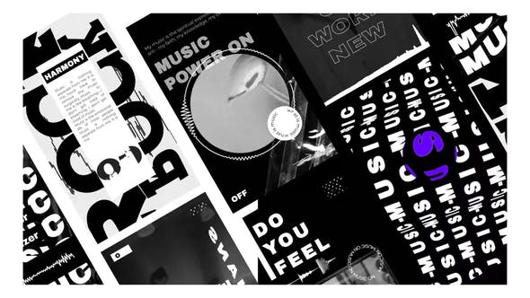 Videohive Music Visualizer black and white stories 31693136