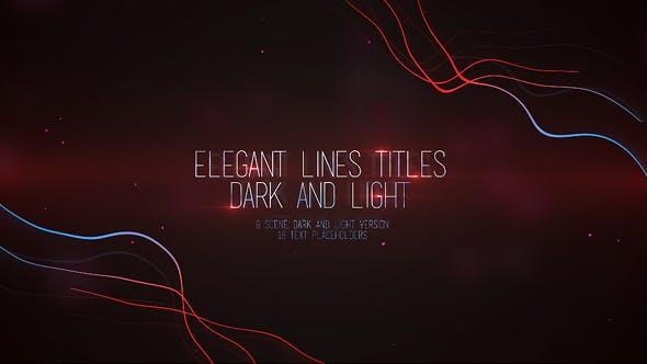 Videohive Elegant Lines Titles Dark and Light 16386628