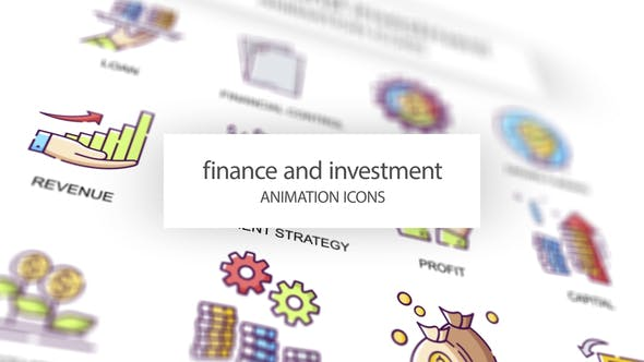 Videohive Finance & Investment Animation Icons 31339501