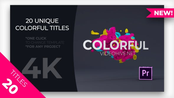 Videohive - Colorful Titles MOGRT - 23264223
