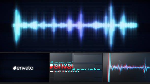 Videohive Glitch Logo Music Visualizer 12007950