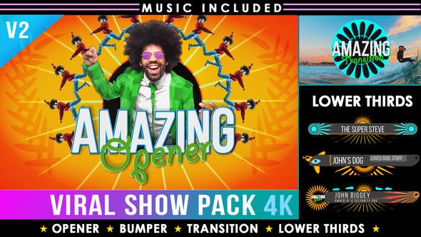 Videohive Colorful Summer Broadcast Pack Funky Opener 2909321