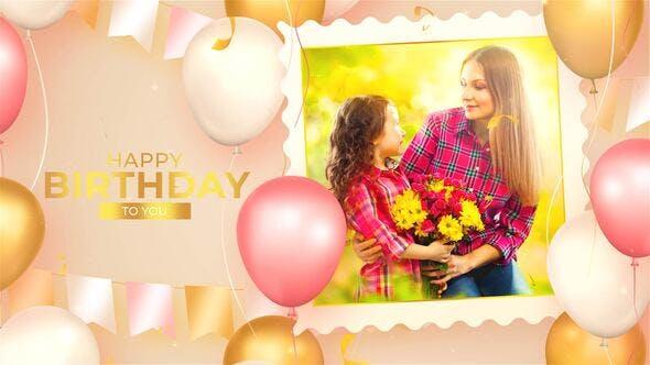Videohive Happy Birthday Photo Slideshow 32574605