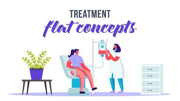 Videohive Treatment Flat Concept 33099282