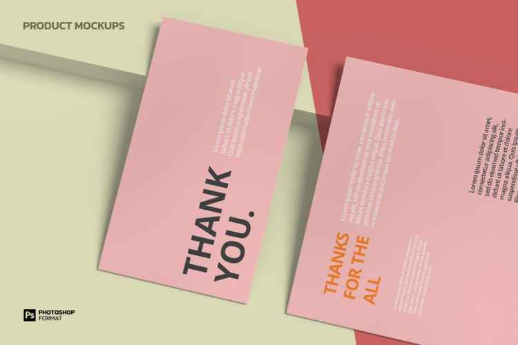 Business Card and Letterhead - Mockup