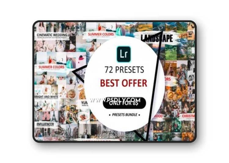 CreativeMarket - 72 Preset Pack For Lightroom 5582781