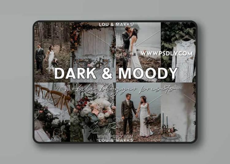 CreativeMarket - Dark Moody Blogger Lightroom Presets 3787371