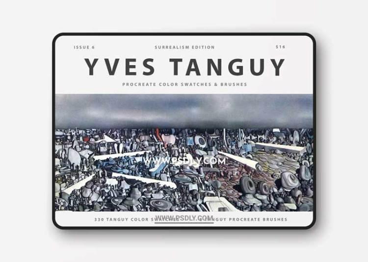 CreativeMarket - Yves Tanguy's Art Procreate Brushes 5988141