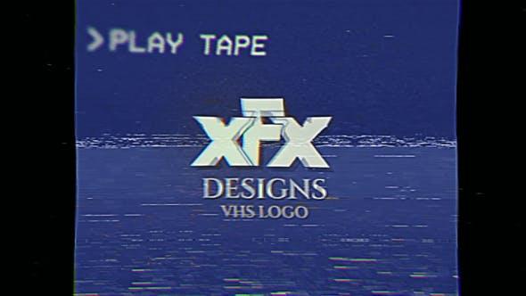 Videohive Damaged VHS Tape Logo Intro 31404464