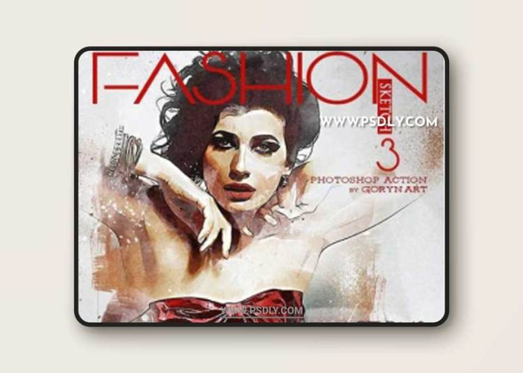 GraphicRiver - Fashion Sketch 3 Photoshop Action 31890174