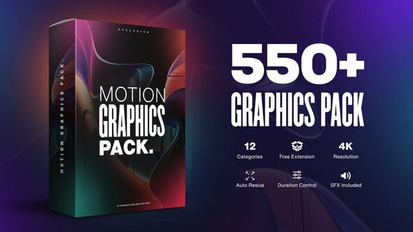 Videohive - Motion Graphics Pack 550+ Animations Pack V2.1 23678923