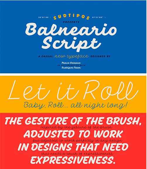 Balneario Script Font Family