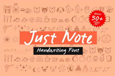 Just Note Font Free Download