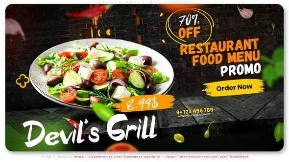 Videohive Devils Grill Menu Promo 33306024