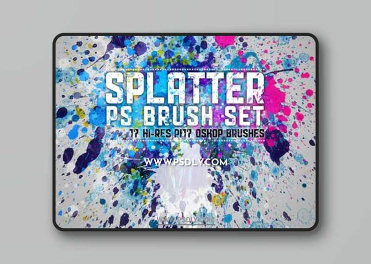 Paint Splatters and Drips Photoshop Brushes + Highly Detailed Vectors Set