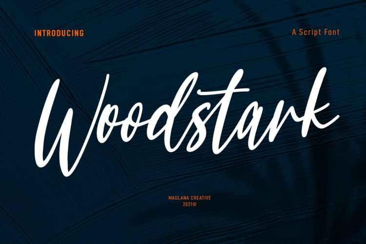 Woodstark Script Brush Font