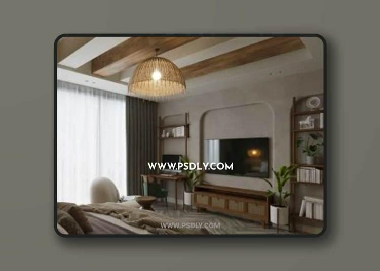 Bedroom 608 3D Model