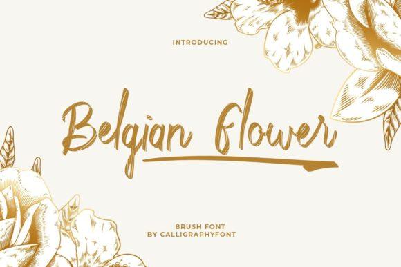 Belgian Flower Font