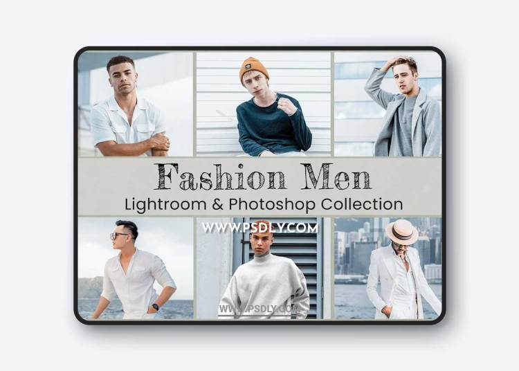 CreativeMarket - Fashion Men Lightroom Photoshop LUTs 6489979