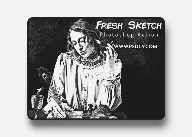 CreativeMarket - Fresh Sketch Photoshop Action 6468490