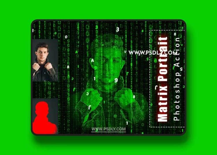 CreativeMarket - Matrix Portrait Photoshop Action 6456511