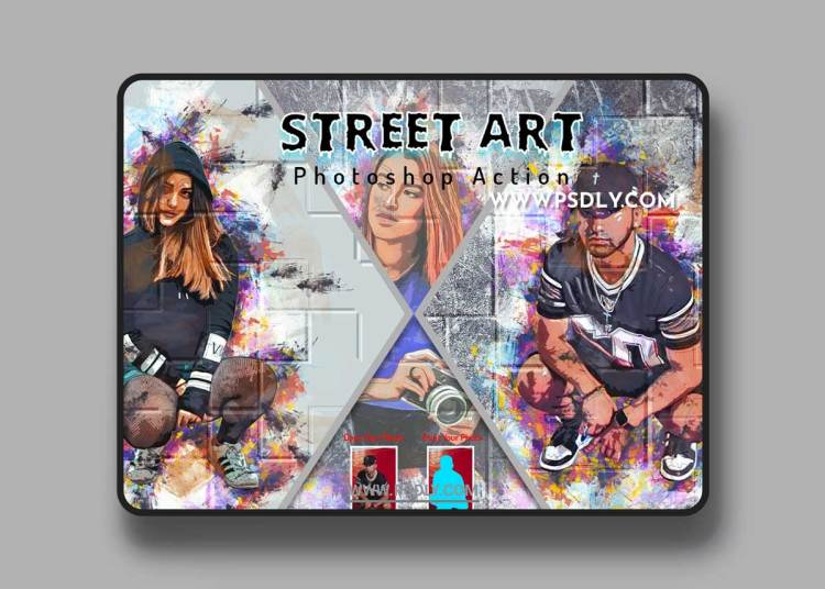 CreativeMarket - Street Art Photoshop Action 6464321