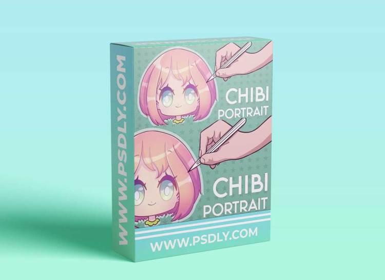 Draw a Cute Cartoon Chibi Character Portrait   Procreate